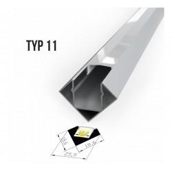 Alu profil za LED trake - TIP 11 (1919F1)
