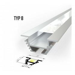 Kutni alu profil za LED trake - TIP 8 (30101) Slim