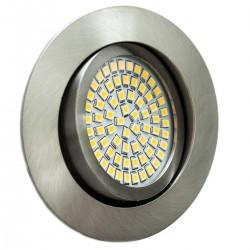 LED ugradna svjetilka - 3,5W 230V 350lm 3200K topla bijela - brušeni aluminij