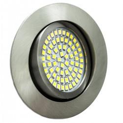 LED ugradna svjetilka - 3,5W 230V 350lm 6000K hladna bijela - brušeni aluminij