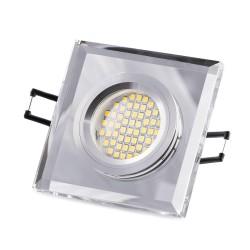 LED staklena ugradna svjetiljka - SD1051 + sijalka GU10 3W toplo bijela