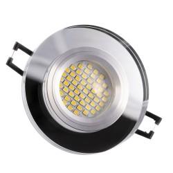 LED staklena ugradna svjetiljka - SD1052 + sijalka GU10 3W toplo bijela