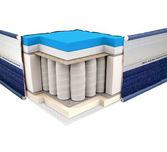 Madrac Spring Mattress Viscogel Spring Comfort 3D 180x200
