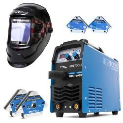 KOMPLET - Aparat za zavarivanje MIG-160ER + Maska LY800H-CRO + Magnet IPO1-M + IPO1-XS