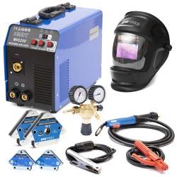 KOMPLET - Aparat za zavarivanje MIG-250 IGBT + Maska X800A + Magnet IPO-1 + Magnet IPO1-XS + Ventil