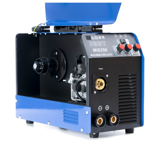 KOMPLET - Inverterski aparat za zavarivanje MIG-250 IGBT + ventil + maska