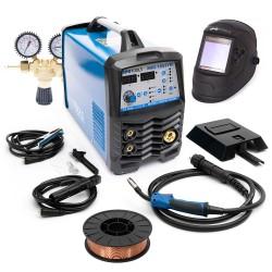 KOMPLET - Aparat za zavarivanje inverter MIG-185-Synergic + ventil + maska + žica
