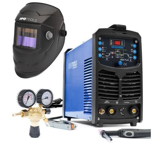 Komplet Inverterski aparat za zavarivanje TIG INV185PACDC + maska + ventil